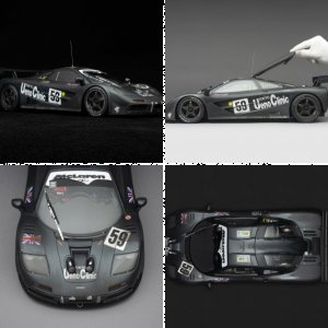 McLaren F1 GTR - 1995 Le Mans Winner - Race Weathered - at 1:8 scale