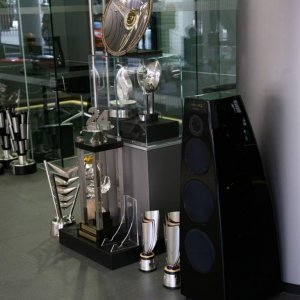 Merdian DSP 7200 Active Speaker, oh and some F1 trophies