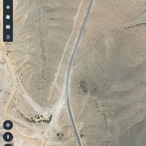 The road I was on. The red dot at the bottom is where we ended up. From this picture you can see that the curve was barely a sweeper and that there wa